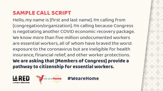 #WeAreHome Week of Action – Call-in Scripts